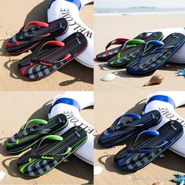 $enCountryForm.capitalKeyWord Australia - hot sale designer sandals mensstriped sandals causal Non-slip summer huaraches slippers flip flops slipper summer outdoor beach slippers