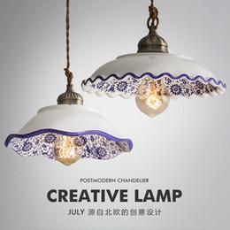 Chinese Porcelain Pendants Australia - Chinese Style Ceramic Pendant Lights Vintage Led Hanging Lamp Retro Loft Porcelain Hanglamp Kitchen Fixture Home Decor Luminaire