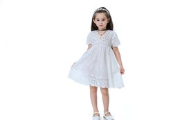 $enCountryForm.capitalKeyWord UK - Summer Kids New Embroidered Children Clothes White Lace Princess Dress Cotton Lace Girl Dresses