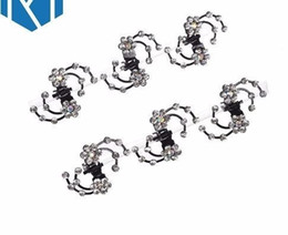 $enCountryForm.capitalKeyWord Australia - 6pcs New Rhinestone Flower Claw Snowflake Hairpins Hair Accessories Set Hair Clips For Women Girls Bride