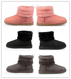 Plush charms online shopping - 2018 New Amazing Women s Australia Classic kneel Boots Ankle boots Black Grey Pink chestnut navy blue Women girl boots Size EU35