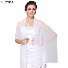 $enCountryForm.capitalKeyWord UK - Wholesale Cheap Wedding Jacket Wraps Bolero Chiffon Women Cap Wrap Shrug For Evening Dresses 2018 In
