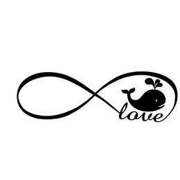 $enCountryForm.capitalKeyWord Australia - Infinity love whale sea animal sticker vinyl decal car window Cute And Interesting Fashion Sticker bumper laptop