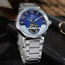 $enCountryForm.capitalKeyWord Australia - Forsining Famous Automatic Skeleton Watches Brand Luxury Men Blue Dial Skull Ocean Auto Gold Mechanical Wrist Watch Gift Clocks