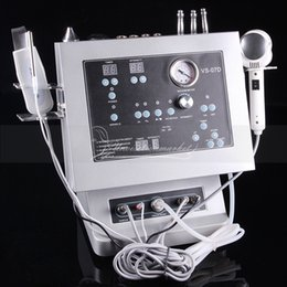 Wholesale 4 In Diamond Dermabrasion Microdermabrasion Ultrasound Ultrasonic Skin Lifting Skin Scrubber Salon Beauty Machine For Home Use