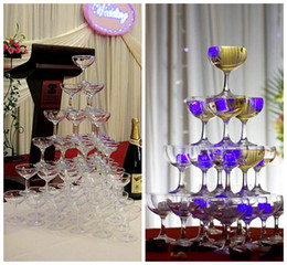 $enCountryForm.capitalKeyWord NZ - 10.5*8.4CM Clear acrylic Champagne wine Glass Cup 150ML drinking cup whiskey cocktail glass cup goblet tower bar disco wedding party props