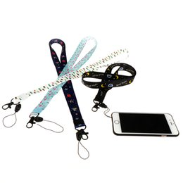 Name keychaiNs online shopping - 45cm Lanyard for Keys Cartoon lanyard for iphone Samsung Phones MP3 USB Flash Drives Keys Keychains ID Name Tag Badge Holders