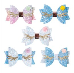 $enCountryForm.capitalKeyWord Australia - Baby Girls Sequin hair clip Sweet glitter Gold angel wings Flower Girls princess barrettes Children Fashion Butterfly Hair accessories Y2930