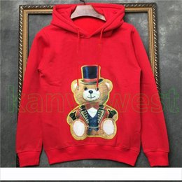 magic lantern UK - 2019 new Autumn Luxury Clothing Mens Lantern bear printing Sweatshirt high quality magic bear print hoodies Pullover Sweatshirt Women Jumper