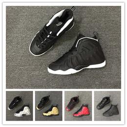 Shoe Box Sales NZ - box Hot Sale Penny Hardaway 1 Children's Basketball Shoes Foams Foam One Kids Sports Sneakers for Top quality Men Women trainers Size 28-35