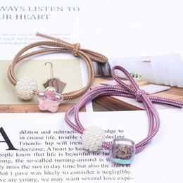 $enCountryForm.capitalKeyWord Australia - Korean Korean hair accessories fashion bursting beads hair rope bow pearl head rope temperament hair ring 2 yuan shop B61