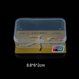 $enCountryForm.capitalKeyWord Australia - 1PC Hot Sale!!! Small Plastic Transparent With Lid Collection Bank Card Container Case Storage Box
