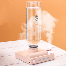 ultrasonic humidifier water bottle NZ - Water Bottle Portable Humidifier Rechargeable Aromatherapy Humidificador USB Aroma Air Diffuser With Night Lamp For Travel