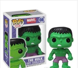 $enCountryForm.capitalKeyWord Australia - Funko Pop Marvel Comics Avengers The Hulk Bobble Head Vinyl Action Figure with Box Toy Gift #08