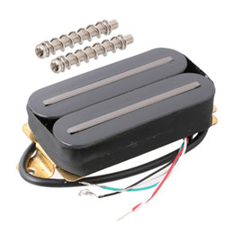 guitar electric fender UK - 1pcs Ceramic Magnet Electric Guitar Pickup Humbucker Black H011