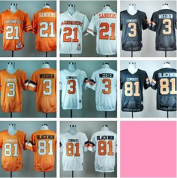 oklahoma state jersey Australia - NCAA Oklahoma State Cowboys #21 Barry Sanders 3 Brandon Weeden 81Justin Blackmon 2019 College Football Jerseys Stitched White Orange