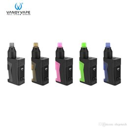simple vape mods NZ - Vandy Vape Simple EX Squonk mod Kit with built-in battery and 4ml squonk bottle features 3.3-4.5V Voltage adjustment and two-posts deck