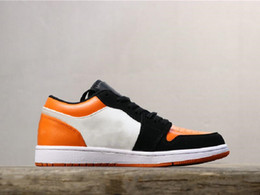$enCountryForm.capitalKeyWord Australia - Hot Sale 1 Low Black Orange Toe Man Designer Basketball Shoes Fresh I Woman Fashion Athletic Trainers Good Quality Come With Box