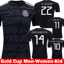 877e7c799 ChiCharito soCCer jersey online shopping - Thailand New camisetas Mexico  Black Gold Cup Soccer Jerseys Mexico