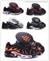 Vente en gros NIKE AIR MAX PLUS TN Nouveau rembourrage de coussin d'air couleur tendance hit classique TN chaussures de course hommes et chaussures femmes exterieurs chaussures de sport