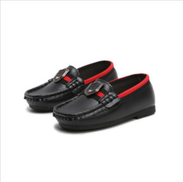 Chinese  Kids Shoes Soft PU Leather Toddler Loafers Baby Boy Shoes Classic Style Slip-on Boys Shoes Size 21-30 Spring Autumn manufacturers