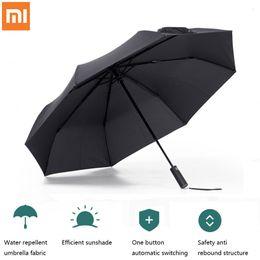 Smart Remote Control Xiaomi Mi Mijia Automatic Rainy Umbrella Sunny Rainy Summer Aluminum Windproof Waterproof Uv Parasol Sunshade Man Woman To Enjoy High Reputation In The International Market Consumer Electronics