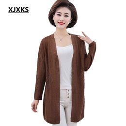 d94c2e9c106 Plus Size Jumpers Cardigans Australia - XJXKS Casual Knitting Long Cardigan  Female Loose Sweaters Plus Size