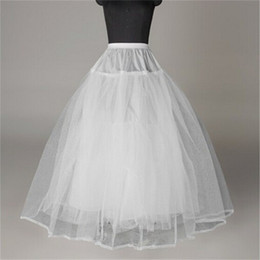 $enCountryForm.capitalKeyWord Australia - Hot Sale Petticoats Wedding Accessories New White Ball Gown 3 Layers No Hoops Underskirt Crinoline for Wedding Dress Bride Gown