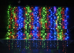 curtain indoor string lights Australia - 300led Curtain String Light Christmas Lights Outdoor Indoor String Wedding Party Home Garden Bedroom Wall Decorations 6*3M EU US