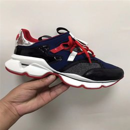 socks rubber bottoms NZ - 2019 Designer Spike Sock Men Sneakers Red Runner Donna Flat rubber running Shoes Womens Red Bottom spike Luxury Shoes Flat trainers 16 color