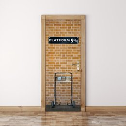 Wall Stickers London NZ - 9 3 4 London Underground Station wall Sticker Graphic Unique Mural Cosplay Gifts for living room home decoration Pvc Decal paper WN644