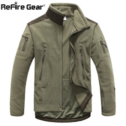 $enCountryForm.capitalKeyWord Australia - ReFire Gear Winter Warm Style Fleece Jacket Men Thicken Polar Outerwear Coat Army Clothing Many Pockets Tactical Jacket