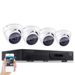 Dome Security System Australia - HDMI 4CH Full AHDL D1 H.264 DVR Kit Nightvision Security 480TVL Dome Camera Surveillance Video System DIY CCTV Camera System