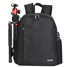 Wholesale Multi functional DSLR Backpack Outdoor Digital Camera Zipper Travel Bag Can be used for camera Black