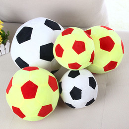 football shaped toys Australia - Patchwork Football Shape Cushion Pillow Soccer Ball Cushion for World Cup Stuffed kids plush doll Toys Gift for Children cojines