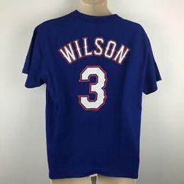 $enCountryForm.capitalKeyWord Australia - Russell Wilson Design #3 Baseball Jersey T Shirt Crew Adult L Majestic