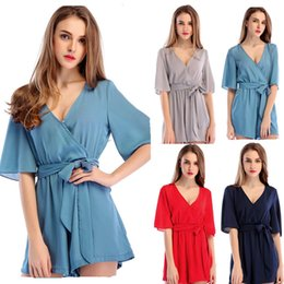 $enCountryForm.capitalKeyWord Australia - 2019 models real shot candy-colored chiffon casual jumpsuit