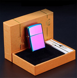 $enCountryForm.capitalKeyWord Australia - Plasma Cigar Double Arc Palse Lighter Pulse Windproof Lighter Thunder USB Rechargeable Cigarette Accessorie Electronic Lighter