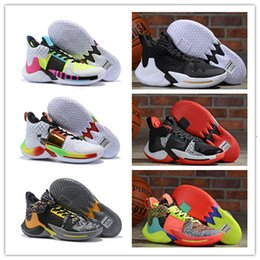 sports shoes green colour Australia - Hot 2019 Russell Westbrook 2 Why Not Zer0.2 Thunder Men Basketball Shoes Top Quality Black Super 22 Colours Sport Sneakers Size 40-46