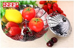 $enCountryForm.capitalKeyWord Australia - 2019 Ssgp kitchen stainless steel plate folding steamed bun steamed mat steamer drawer retractable fruit basket steamer rack steamer drawer