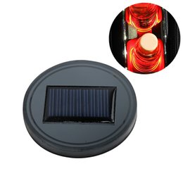 cup holder cover NZ - Solar Car Cup Holder With LED Light Bottom Mat Pad Cover Lamp Bottle Drinks Coaster Car Styling