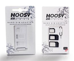 $enCountryForm.capitalKeyWord Australia - Good quality noosy adapter with eject pin 4 in1 NOOSY Nano & Micro & Standard Sim Card Convertion Converter for iphone4 5 6 all mobile phone
