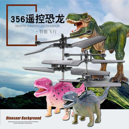 light helicopters toy NZ - New remote control flying dinosaur helicopter rechargeable lights cross-border children's toys wholesale