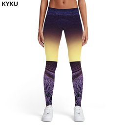 $enCountryForm.capitalKeyWord NZ - KYKU Galaxy Leggings Women Nebula Printed pants Flower Sport Abstract Ladies Harajuku Elastic Womens Leggings Pants Jeggings