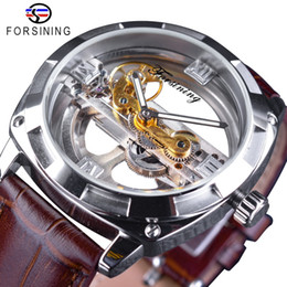 Wholesale official tops for sale – custom Forsining City Fashion Man Design Two Side Transparent Only Official Limited Men Watch Top Brand Luxury Automatic Skeleton Watch