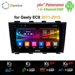 chinese 4g tablets NZ - Ownice Android 9.0 k5 k6 for Geely Emgrand EC8 2011 - 2015 360 Panorama Car Tablet PC Player GPS Navi Radio DSP 4G LTE SPDIF car dvd
