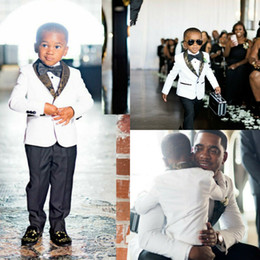 Formal Wear For Men Piece Suit Australia - Boys Tuxedo Boys Dinner Suits Formal Suits Tuxedo for Kids Print Tuxedo Formal Occasion White And Black Suits For Little Men Two Pieces