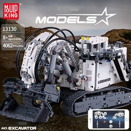 ElEctric kids car online shopping - YX13130 RC Excavator Digger Building Blocks Model Toy Nine Motors App Control Spins Scale Big Size for Xmas Kid Birthday Gift