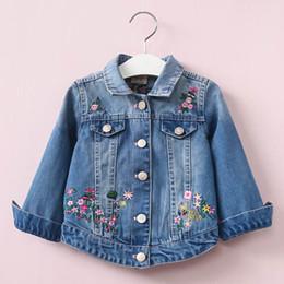 $enCountryForm.capitalKeyWord Australia - fashion 2019 denim jacket girl children spring winter jacket kids clothes girl coat toddler outerwear jean jacket autumn floral