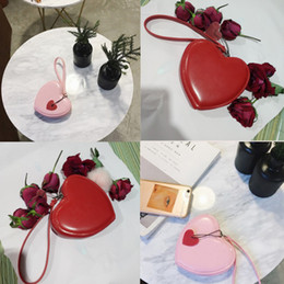 Heart Shaped Handbags Wholesale Australia - Fashion Children purse girls love heart shape pendant kids princess messenger bag girls Xmas party handbag valentine's day gift F2702